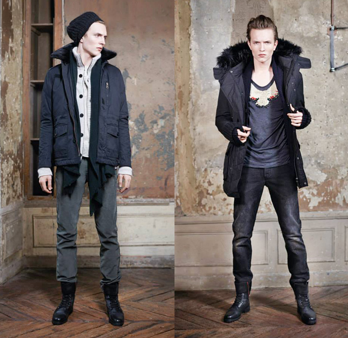 zadig-et-voltaire-france-2013-2014-fall-autumn-winter-automne-hiver-homme-mens-fashion-lookbook-collection-denim-colored-jeans-outerwear-jackets-parka-scarves-04x